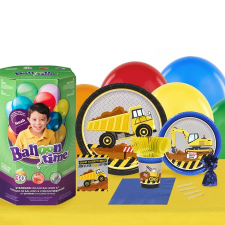 Construction Party 16 Guest Party Pack and Helium Kit - Helium Container