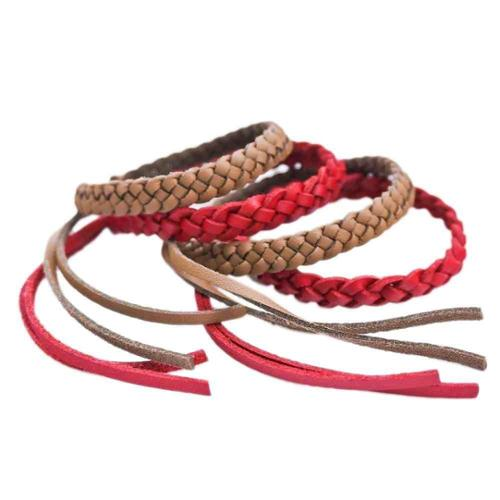 Kinven (4 Total) Mosquito Repellent Fashion Bracelets - 2 Brown & 2 Red