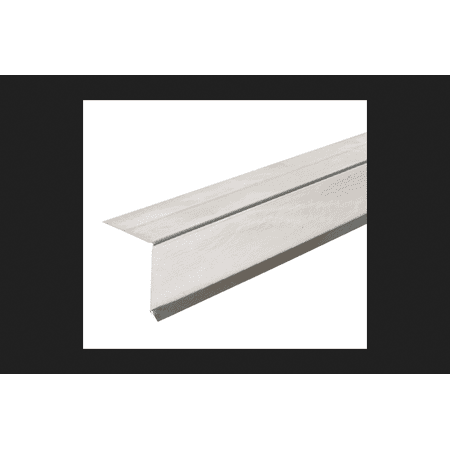 Amerimax Galvanized Steel Roof Flashing Drip Edge White 1 in. H x 10 ft. L x 1-1/2 in.