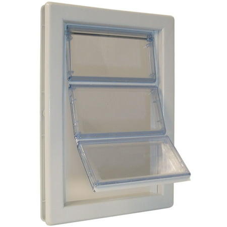 Ideal Pet Products Air-Seal Pet Door, X-Large, White, 10.75