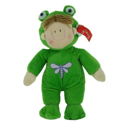 Plush 15 Inch Springtime Kids Stuffed Doll in Frog (Kiss Frogs)