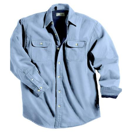Coast Men Shirts (Tri-Mountain Men's Big And Tall Denim Shirt Jacket)