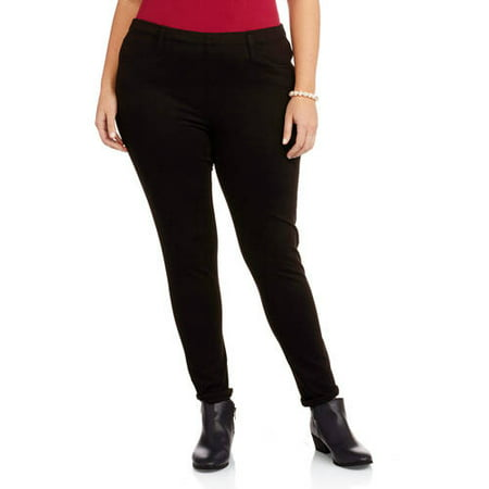 04bb3a18625 Faded Glory - Women s Plus-Size Knit Color Jeggings - Walmart.com