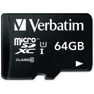 Verbatim Microsdxc Memory Card With Sd Adapter, Class 10, 64gb