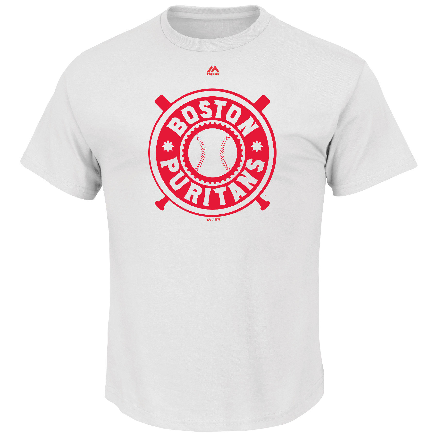 Boston Red Sox Majestic Boston Puritans Historical Team T-Shirt - White