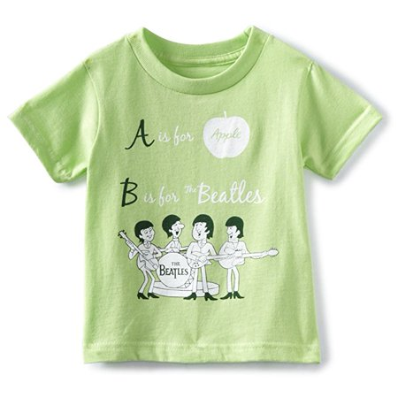The Beatles Alpha Key Lime Toddler T-Shirt