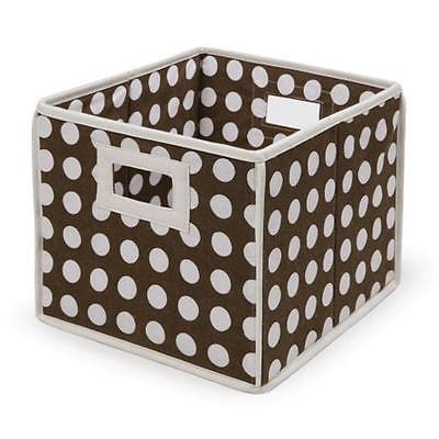 Badger Basket 00223 Folding Basket-Storage Cube Brown Polka Dot Home Organizers Istilo107222 by GSS