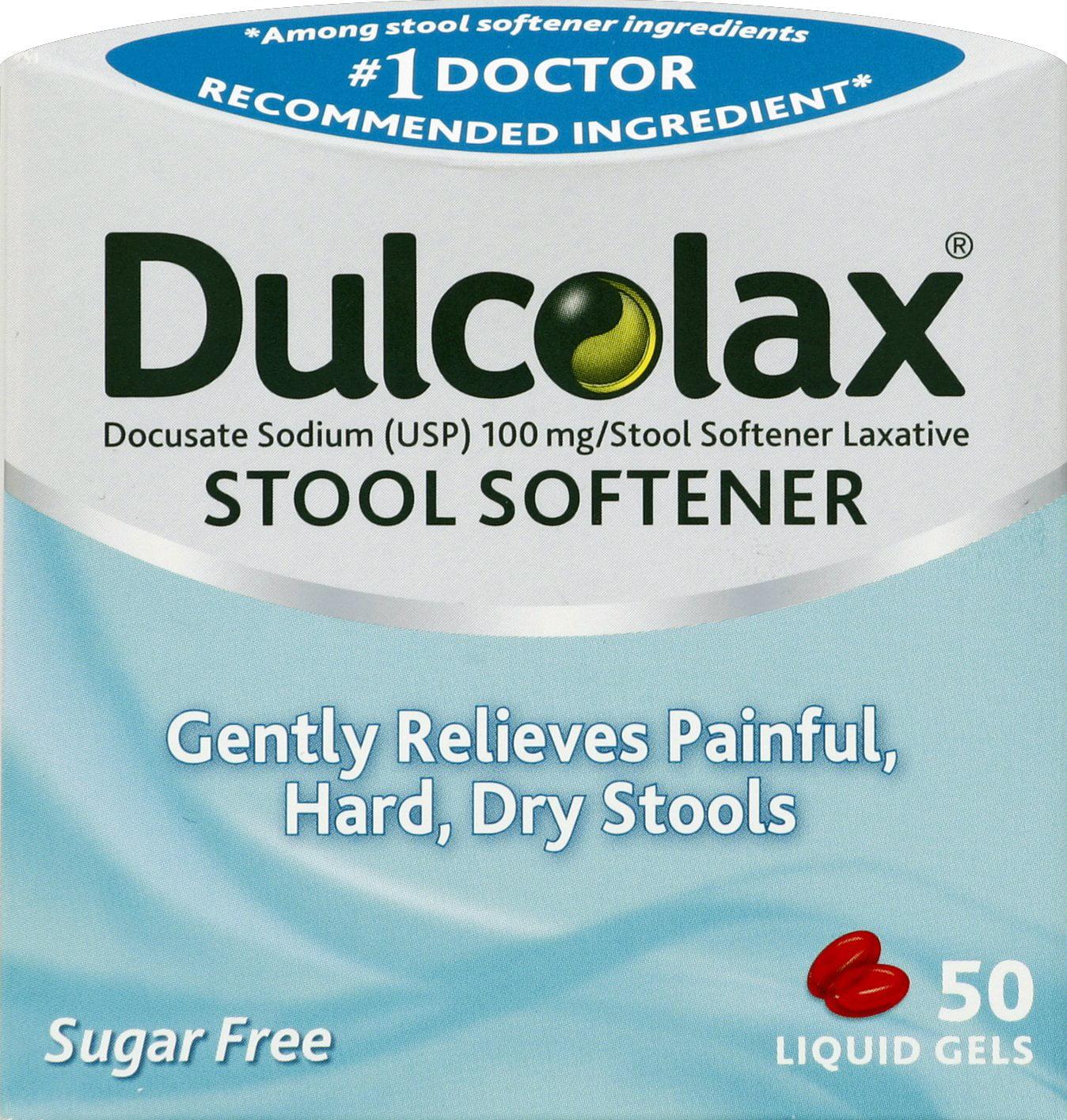Dulcolax Stool Softener Liquid Gels 50ct Docusate Sodium
