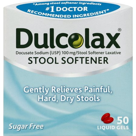 Dulcolax Stool Softener Liquid Gels 50ct Docusate Sodium