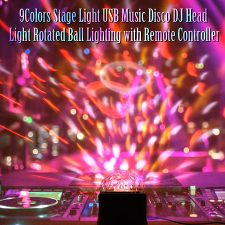 9 Colors Stage Light LED Stage Light Dancing Party USB Mini Light Remote Control Light for KTV, Stage, Disco, Ballroom, Bar, Club, Party, Wedding for $<!---->
