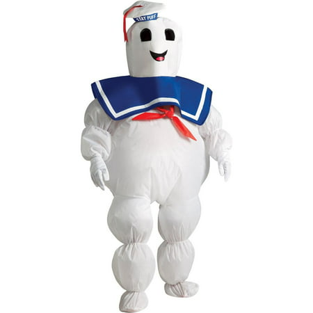 Ghostbusters - Stay Puft Marshmallow Man Inflatable Child Costume - One Size Fits Most Kids](Ghost Busters Outfit)