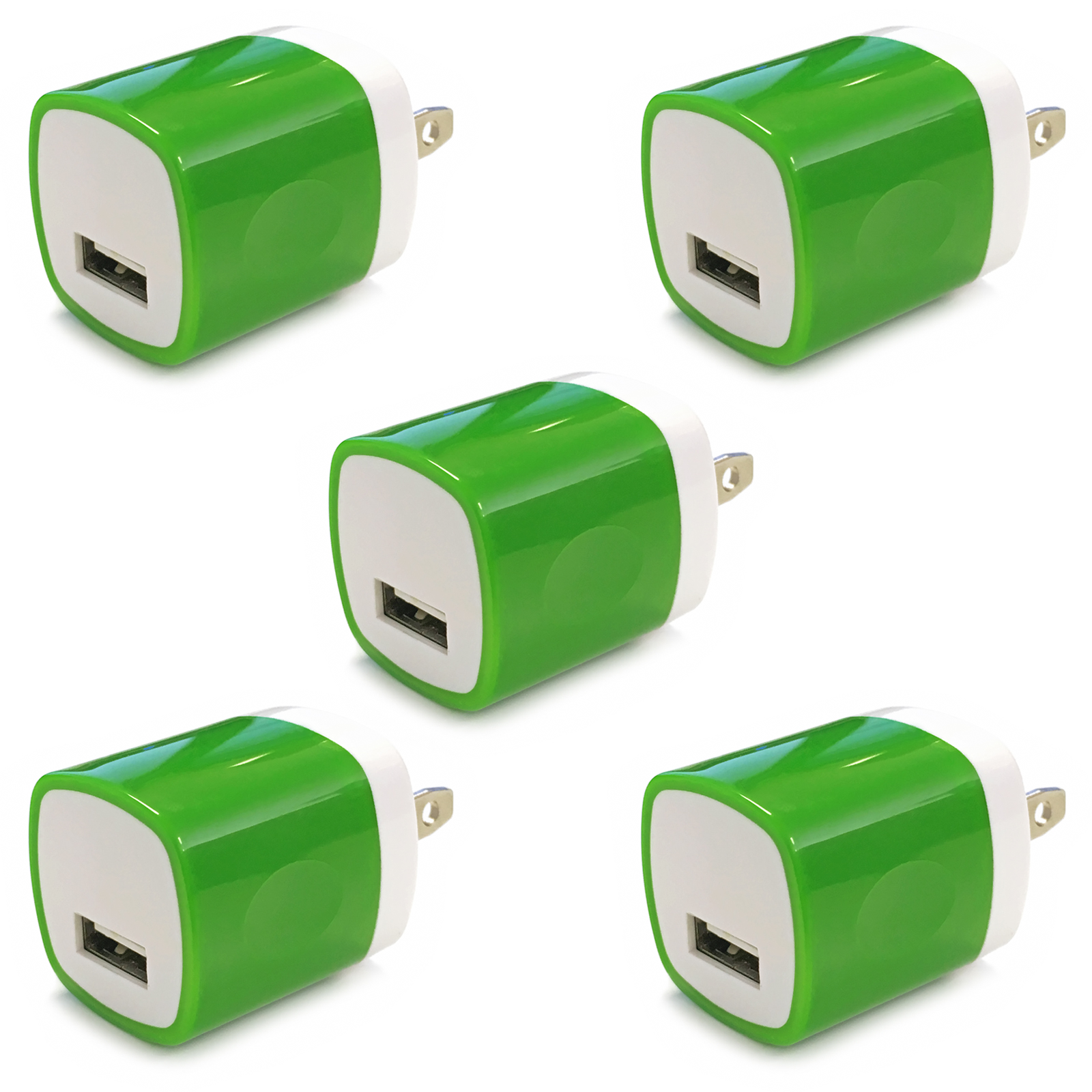 5x USB Wall Charger, Charger Adapter, FREEDOMTECH 1Amp Single Port Quick Charger Plug Cube for iPhone 7/6S/6S Plus/6 Plus/6/5S/5, Samsung Galaxy S7/S6/S5 Edge, LG, HTC, Huawei, Moto, Kindle and More