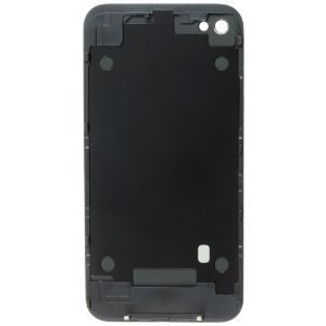 NEWGATE Replacement Glass Back Battery Cover & Frame for Apple iPhone 4 in Black for GSM AT&T USA Seller