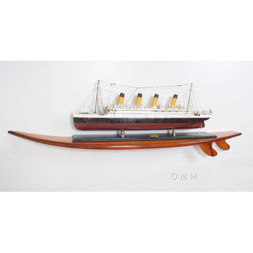 Old Modern Handicrafts Half-Surfboard Shelf by Old Modern Handicrafts