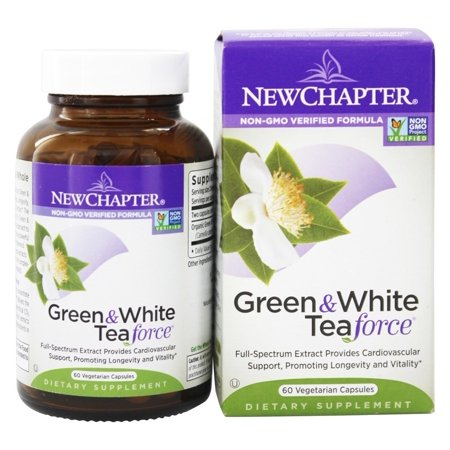 Force 60 Capsules - New Chapter - Green & White Tea Force - 60 Vegetarian Capsules