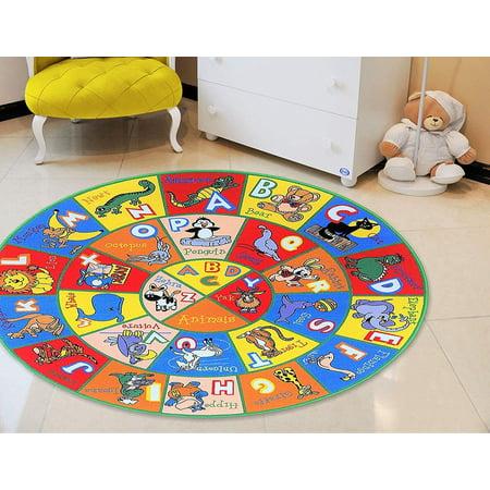 Teaching ABC Animals Kids Educational playmat Non-Slip Rug for School/Classroom / Daycare/Nursery