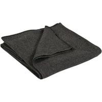 "Wool Blanket, Gray, 60"" x 80"""