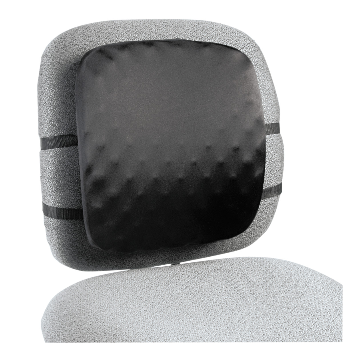 Kensington Halfback Back Support Chair Pad, 13w x 1 1 2d x 13 3 4h, Black by ACCO BRANDS, INC.