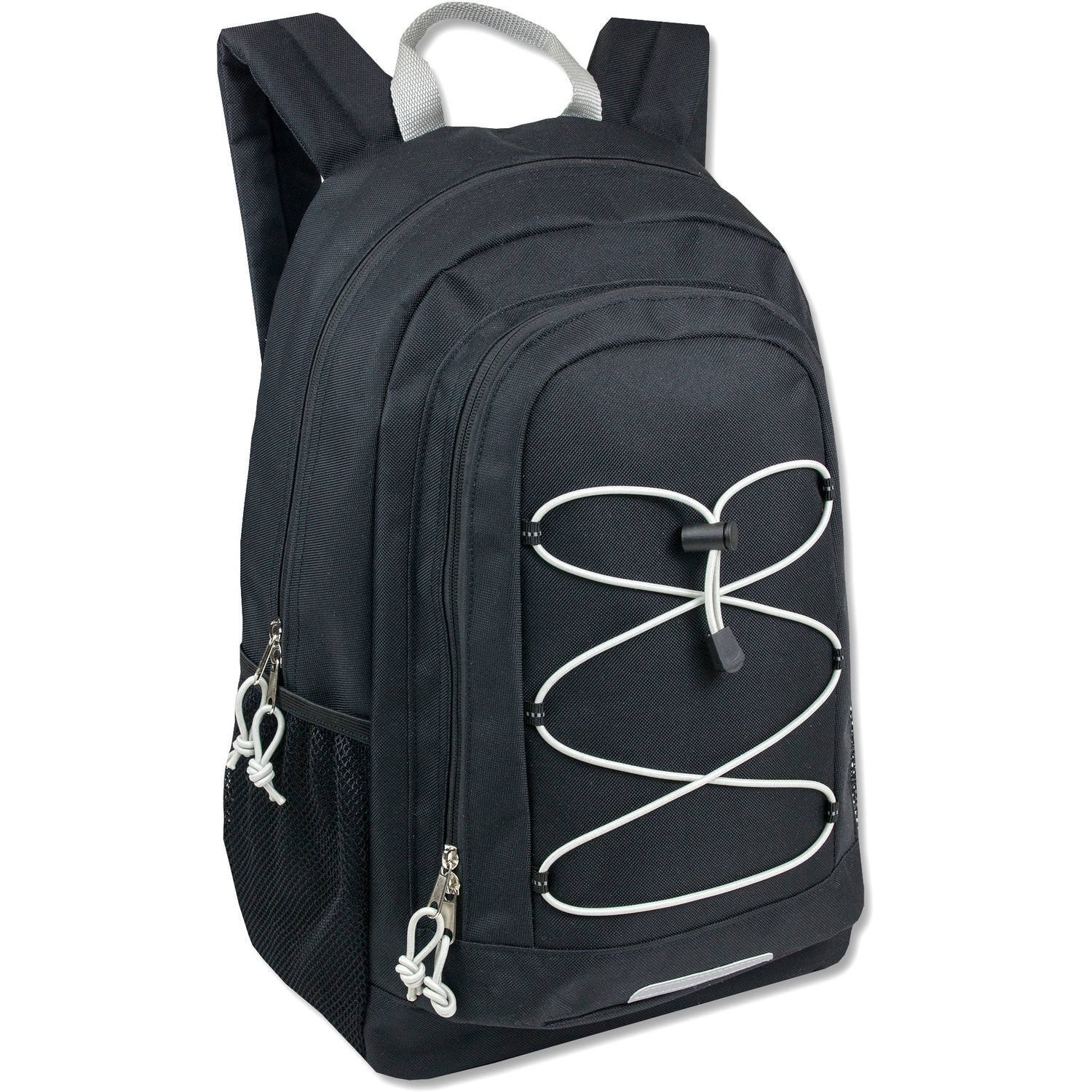 """School Backpack. This Cute Bag For Kids 19"""" W  Padded Adjustable Straps (Black), Made From Durable Polyester Bungee... by"""