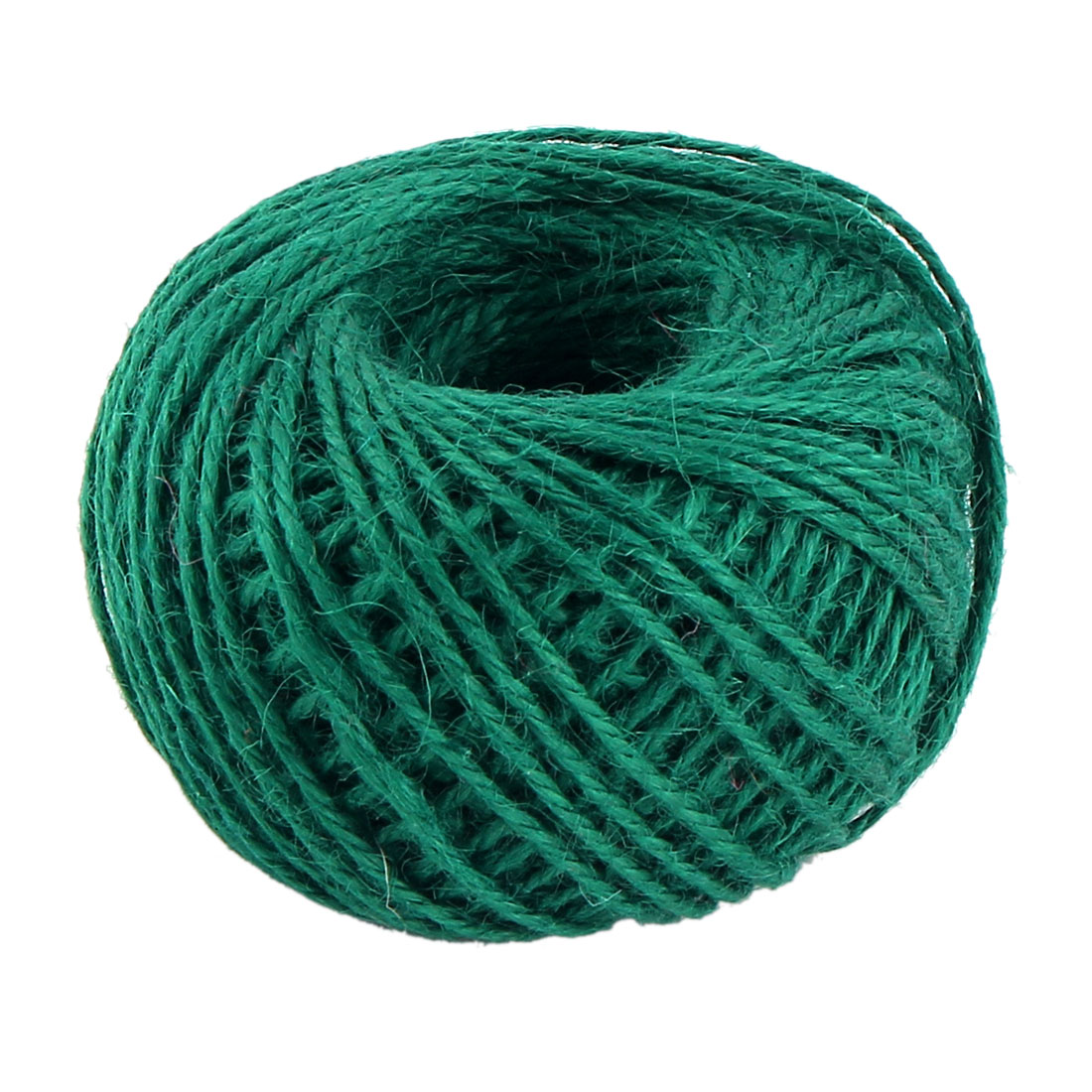 Unique Bargains Gift Tags Jute Burlap Ribbon Rope Cord Pack Roll Sea Green 2mm Dia 50m Length Yarn