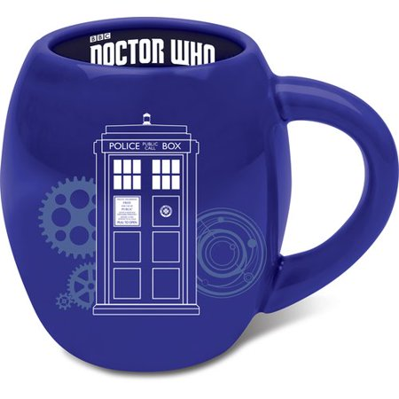 Ronbow Oval Ceramic - Vandor LLC Doctor Who 18 oz. Oval Ceramic Mug