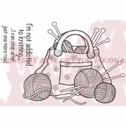 """Woodware Clear Stamps 3.5""""X5.5""""-Knitting Bag"""