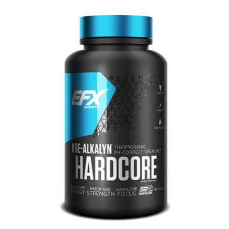 EFX Sports Kre-Alkalyn HARDCORE 120 Capsules 40 Servings Thermogenic Creatine
