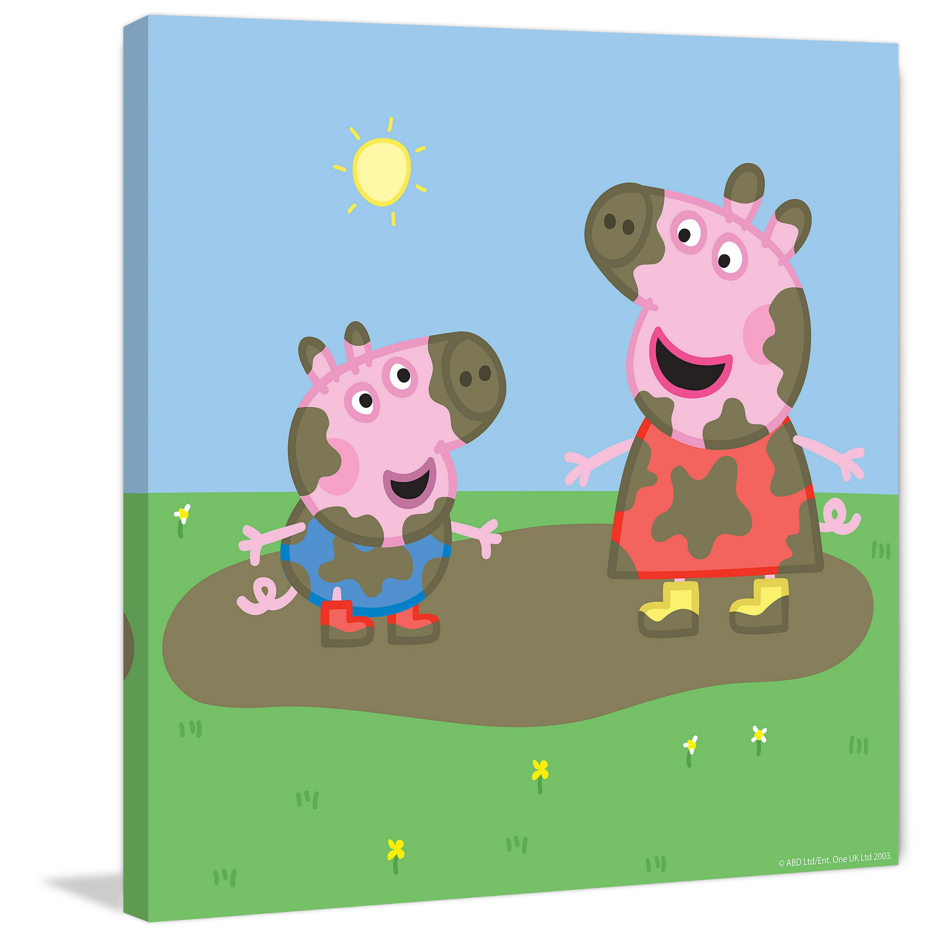 Marmont Hill Muddy Faces Peppa Pig Painting Print On Canvas
