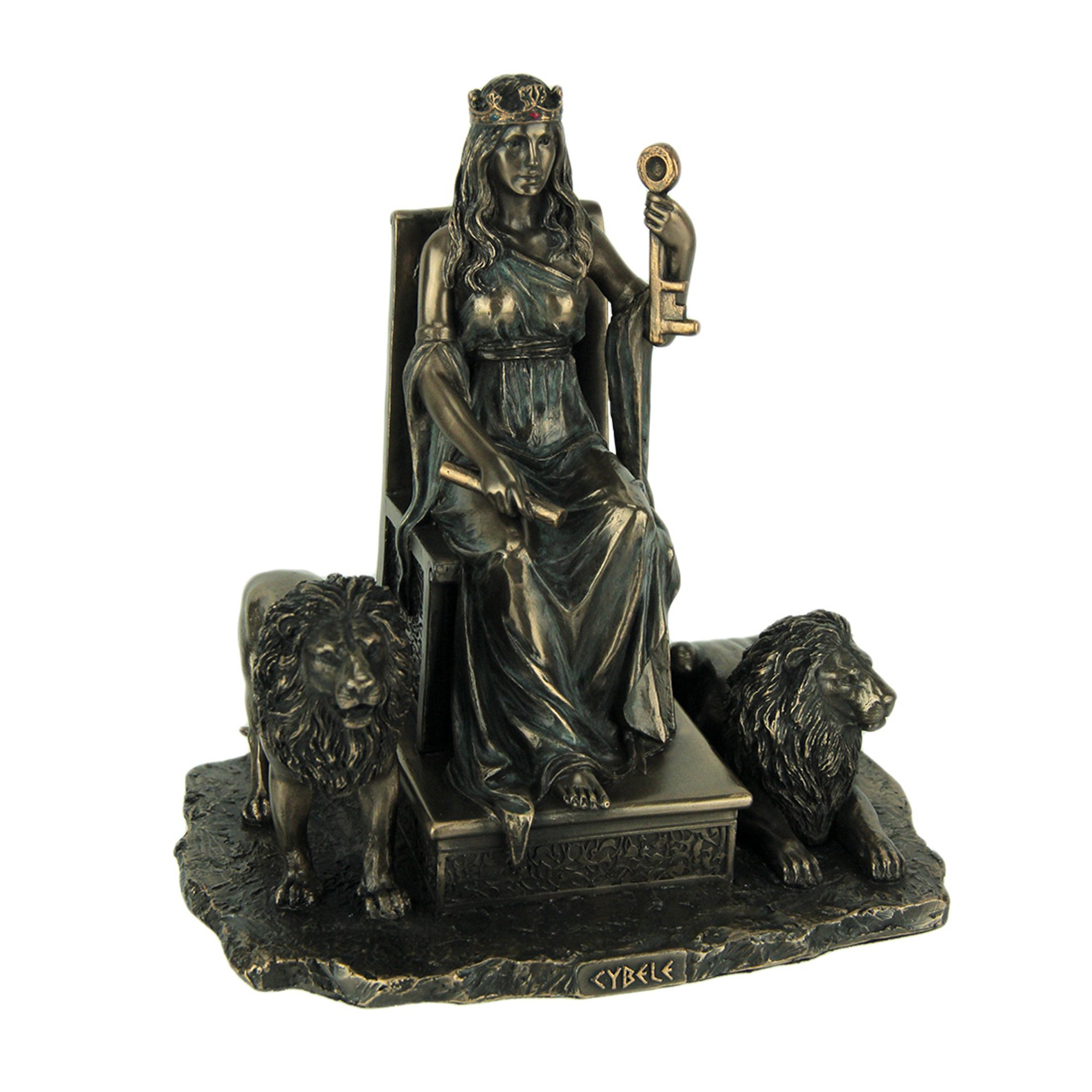 Ancient Gaia Statue cybele ancient greek mother goddess bronze finished statue