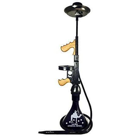 "VAPOR HOOKAHS SOUTH SIDE MOBSTER 33"" HOOKAH SET: Portable Modern hookahs with multi hose capability from a Single Hose shisha pipe to 2 Hose Narguile pipes (Black Hookah) ()"