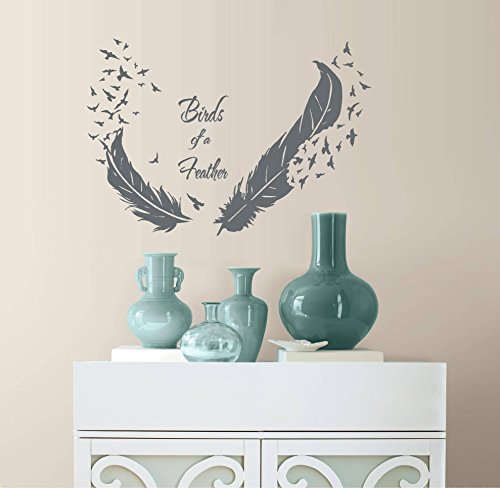 Decal ~ BIRDS OF A FEATHER ~ Wall or Window Decal