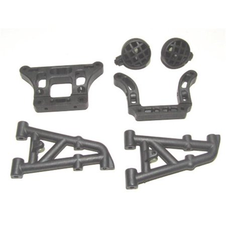 8ight Rear Shock - Rear Pivot Blocks & Shock Tower Mount with Light Pod
