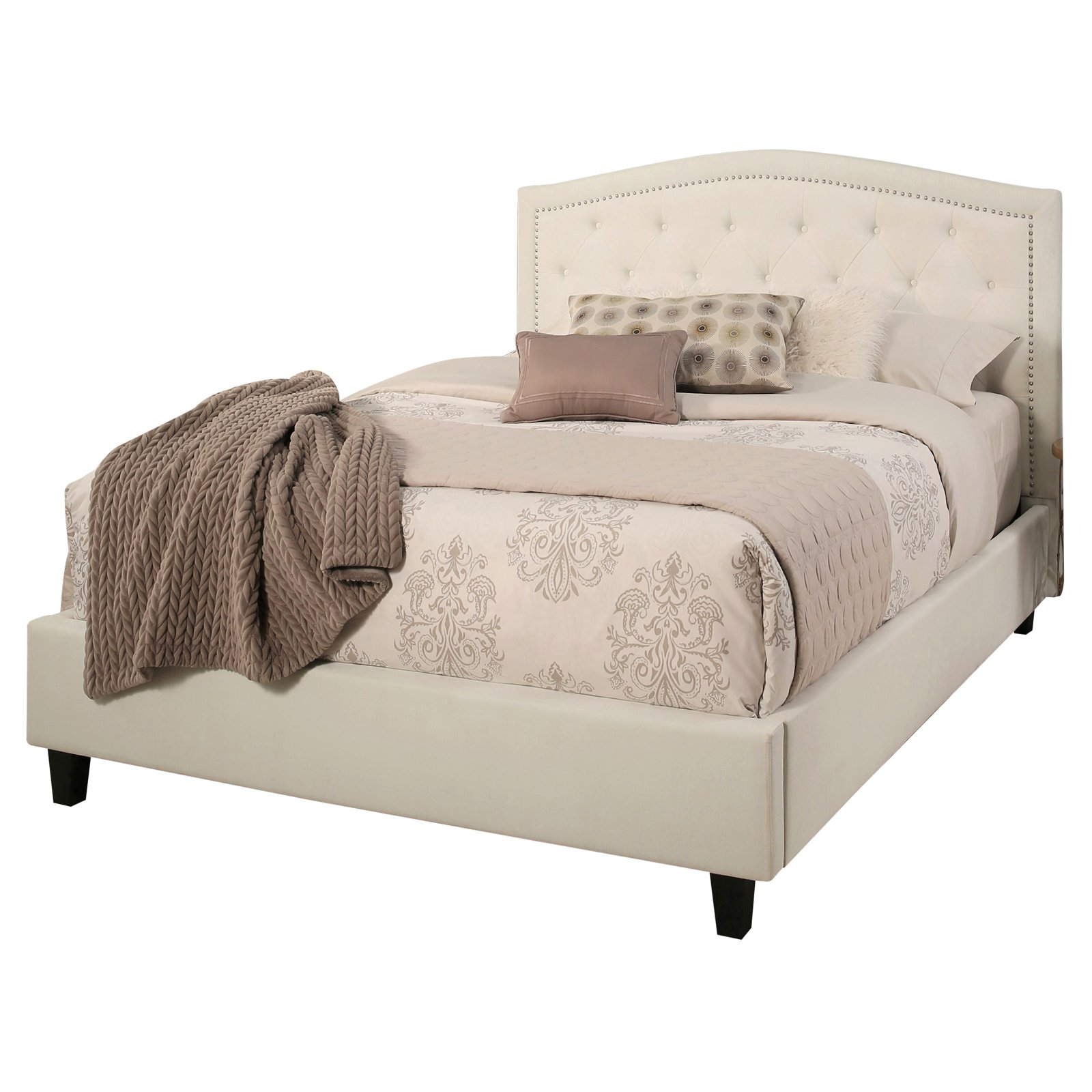 Abbyson Hampton Upholstered Panel Bed