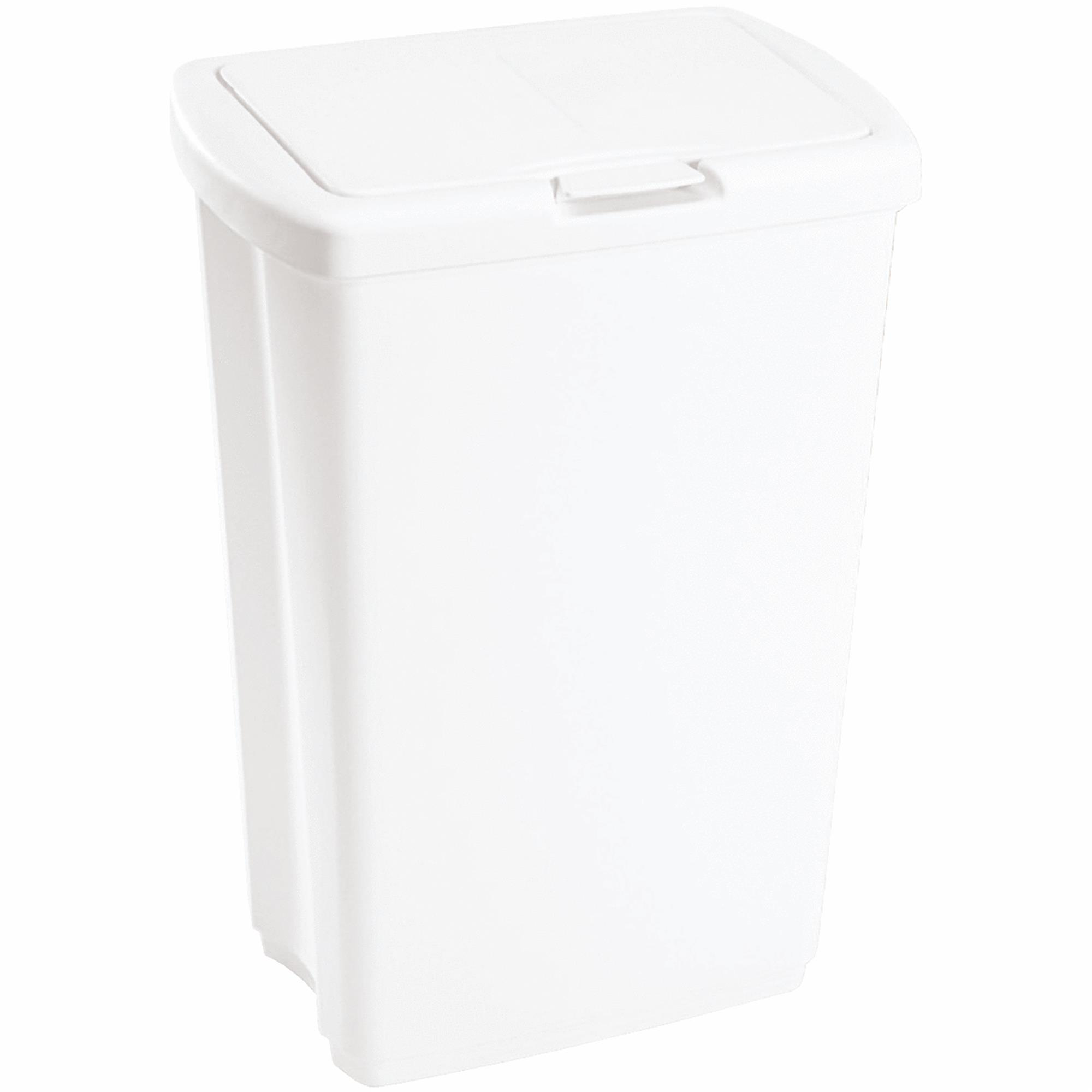 Rubbermaid 13.25-Gallon Spring Top Wastebasket, White by Newell Rubbermaid