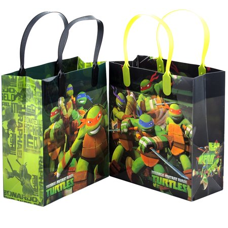Ninja Turtles 12 Reusable Party Favors Medium Goodie Gift Bags 8