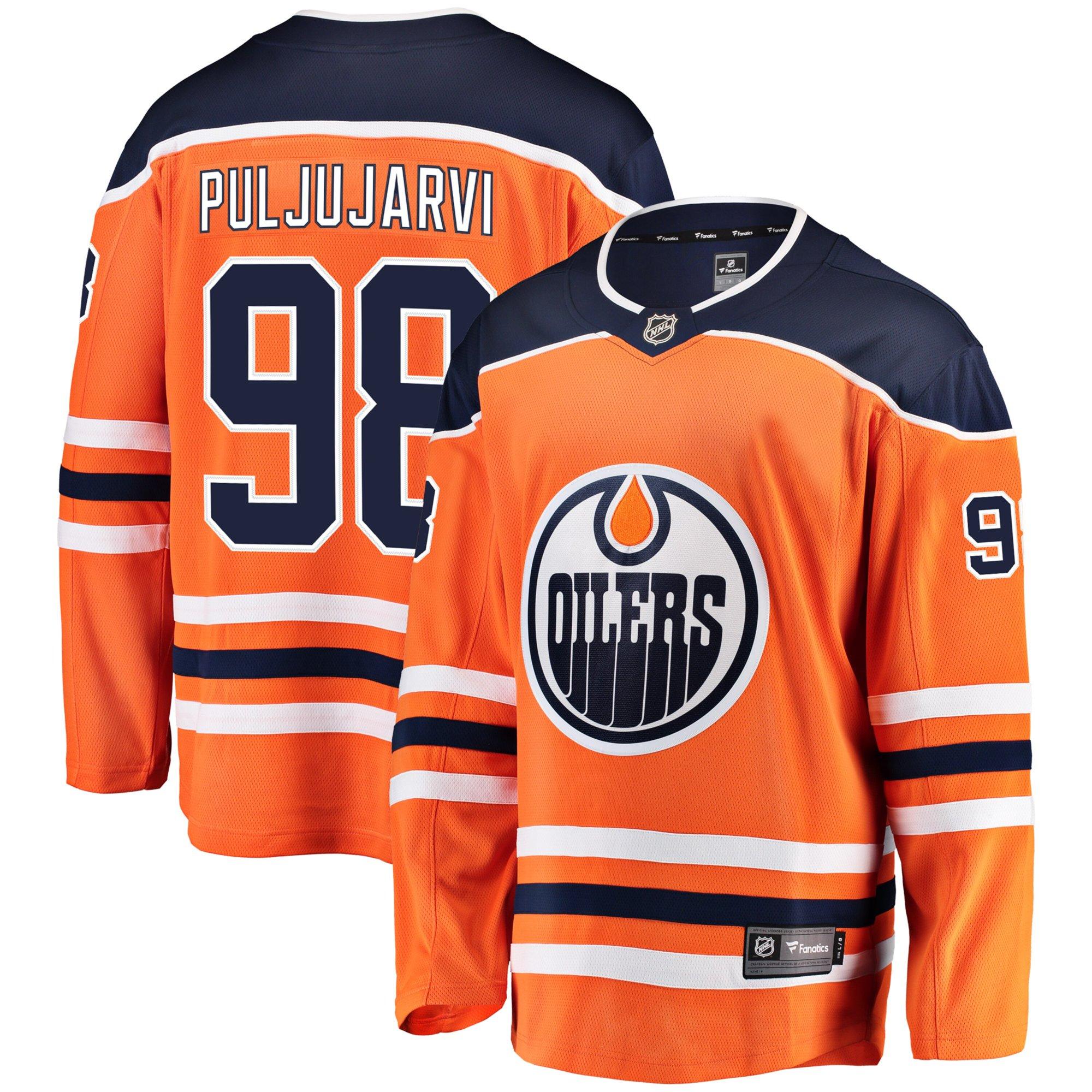 sneakers for cheap 57dfe 874ae Jesse Puljujarvi Edmonton Oilers NHL Fanatics Breakaway Home Jersey