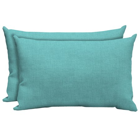 Mainstays Outdoor Patio Lumbar Toss Pillow Set Of 2 Multiple