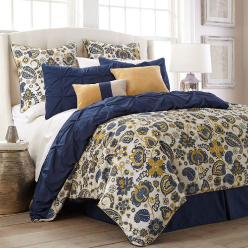 Lorna Paisley 8-piece Comforter Set Queen
