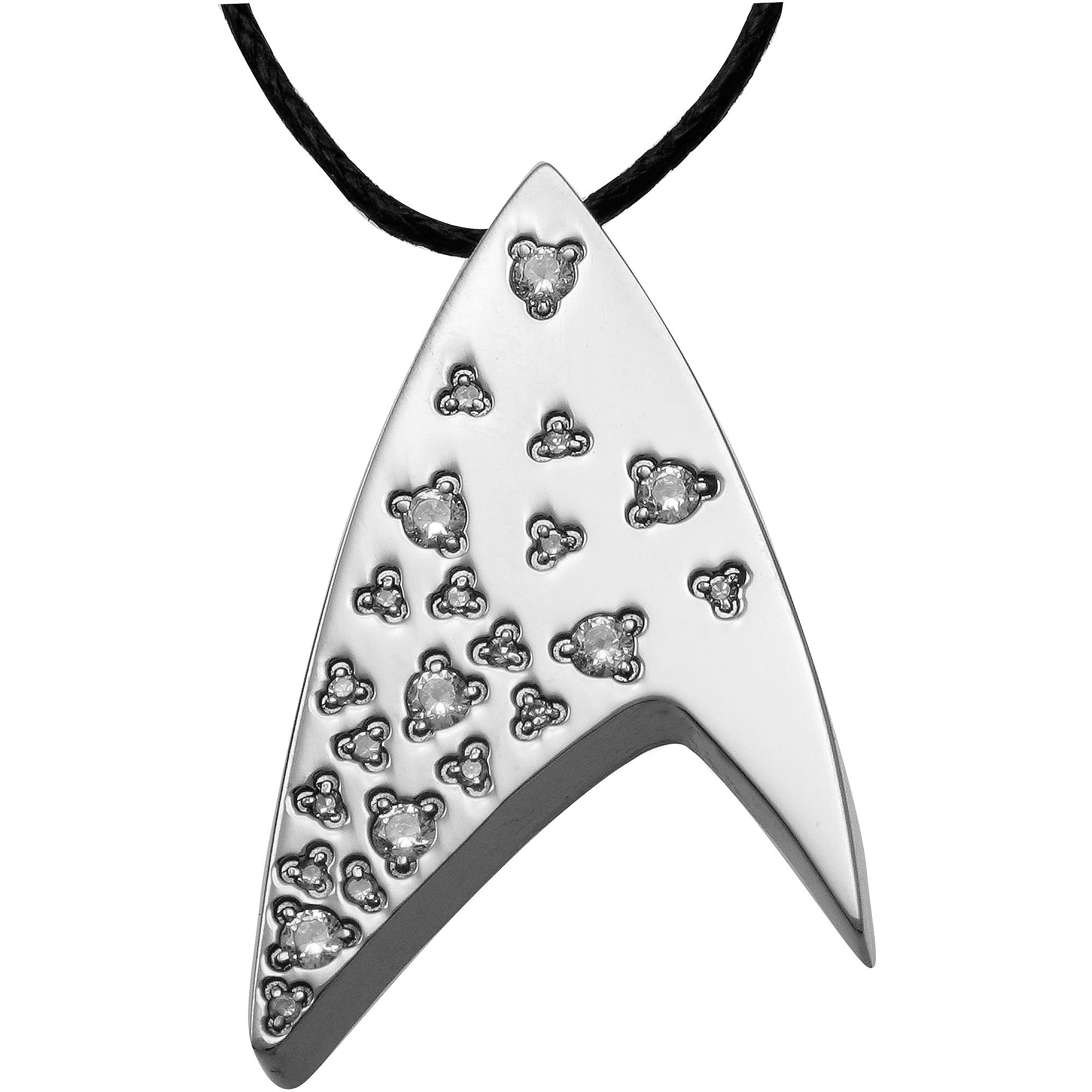Star Trek Unisex White Crystal Stainless Steel Pendant