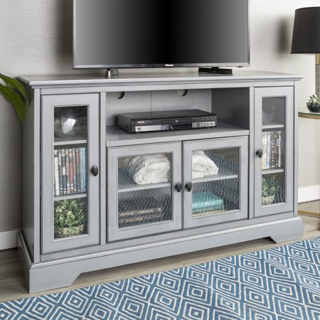 Walker edison highboy style wood media storage tv stand for Tv console with storage