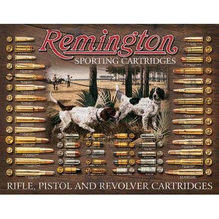 Remington Bullet Board Tin Sign - 16x12 Reader Board Sign