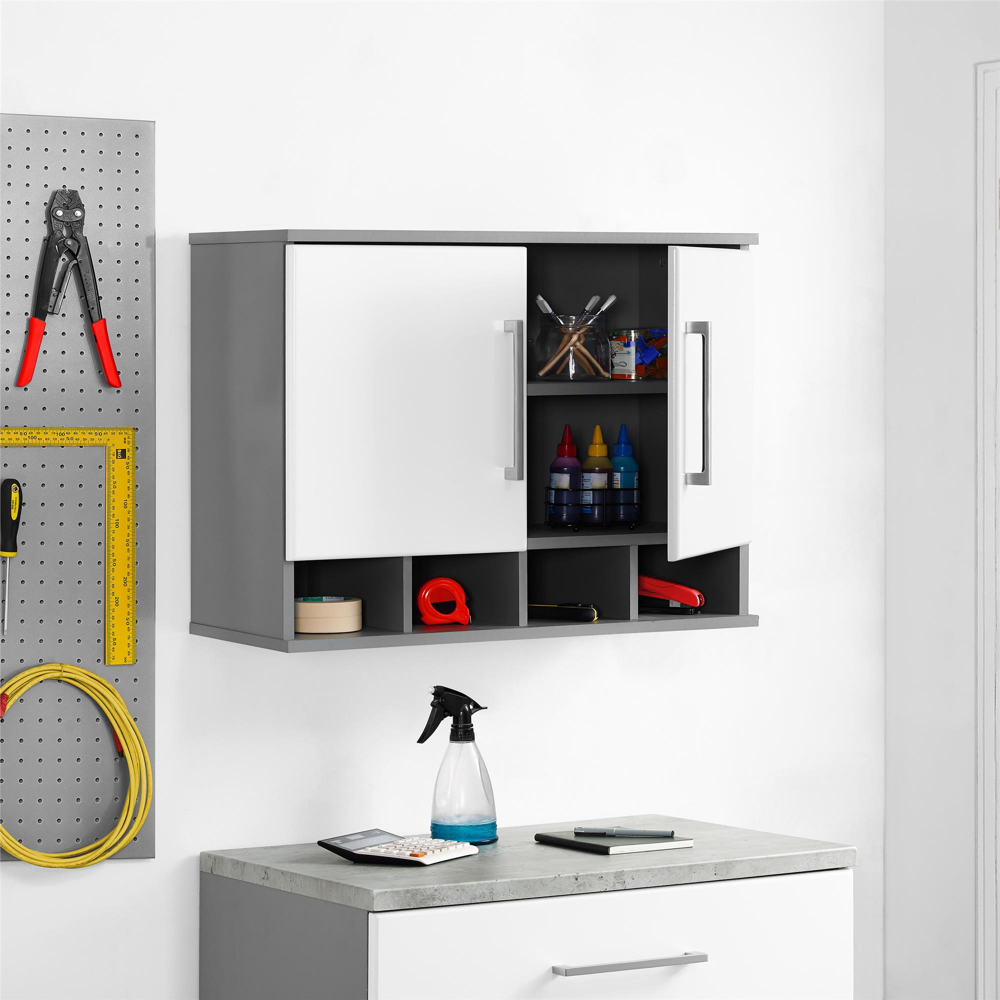 SystemBuild Latitude Wall Cabinet, Multiple Colors