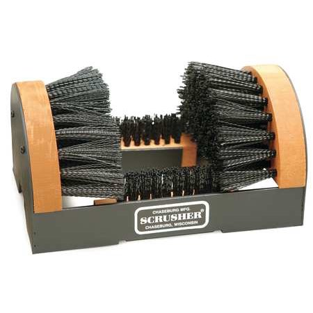 - H1 Black Boot Brush with Scraper