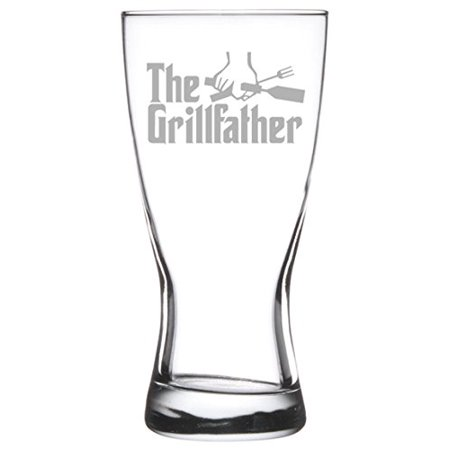 - 15 oz Beer Pilsner Glass Dad Father The Grillfather