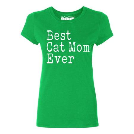 P&B Best Cat Mom Ever Women's T-shirt, Green, 3XL