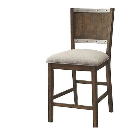 Dark Ashwood Rustic Counter Height Dining Chair by Coaster 107019 - Set of 2