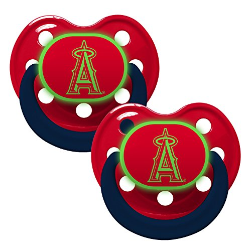 Baby Fanatic Pacifier - Glow In The Dark (2 Pack) - Los Angeles Angels