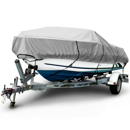 Budge 1200 Denier Center Console V-Hull Boat Cover, Waterproof, Premium Outdoor Protection for V-Hull Boats, Multiple