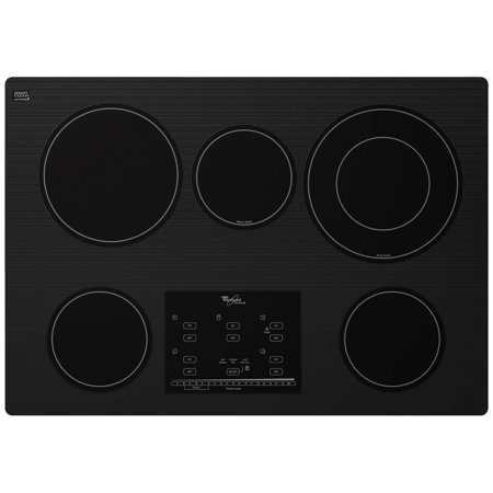 whirlpool g9ce3065xb gold r series 30 inch electric ceramic glass cooktop with tap touch. Black Bedroom Furniture Sets. Home Design Ideas