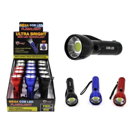 Home Plus 9490327 250 Lumens Assorted LED COB AAA Flashlight Case - Pack of 15 - image 1 of 1